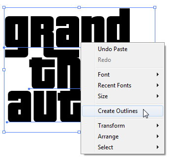 Mendesain Logo Grand Theft Auto di Illustrator
