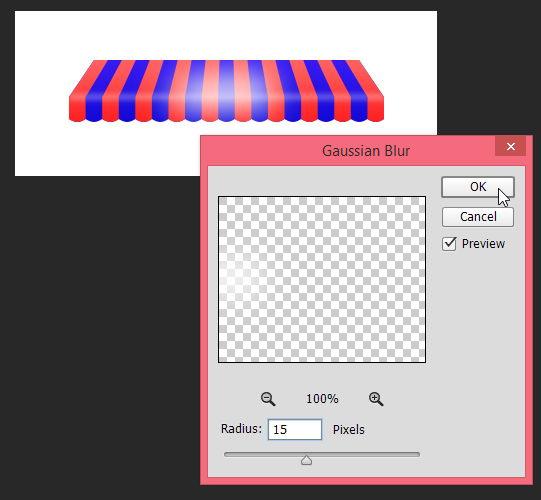 Menggambar Awning dengan Tool Vektor Photoshop