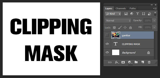 Mengenal Clipping Mask di Photoshop