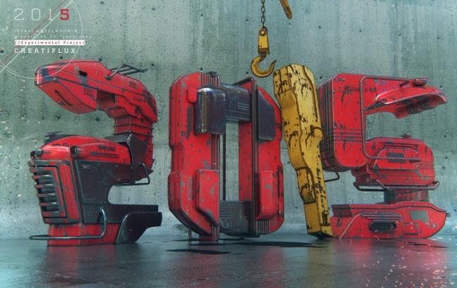 2015 Dieselpunk Typography
