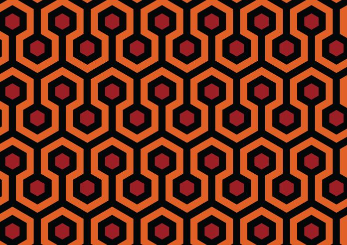 Pola vektor karpet film The Shining.