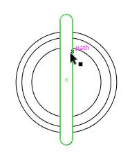 Tambahkan rounded rectangle di tengah globe.