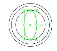 Gambar ellipse di bagian tengah globe.