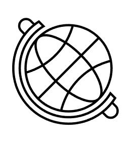 Putar bentuk globe.
